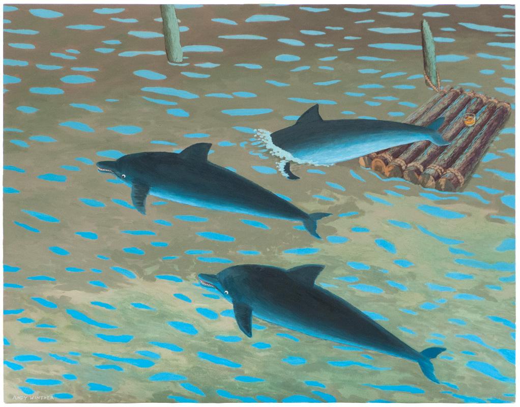 "Porcopiscis; 1988; 42"" x 54""; oil on canvas"