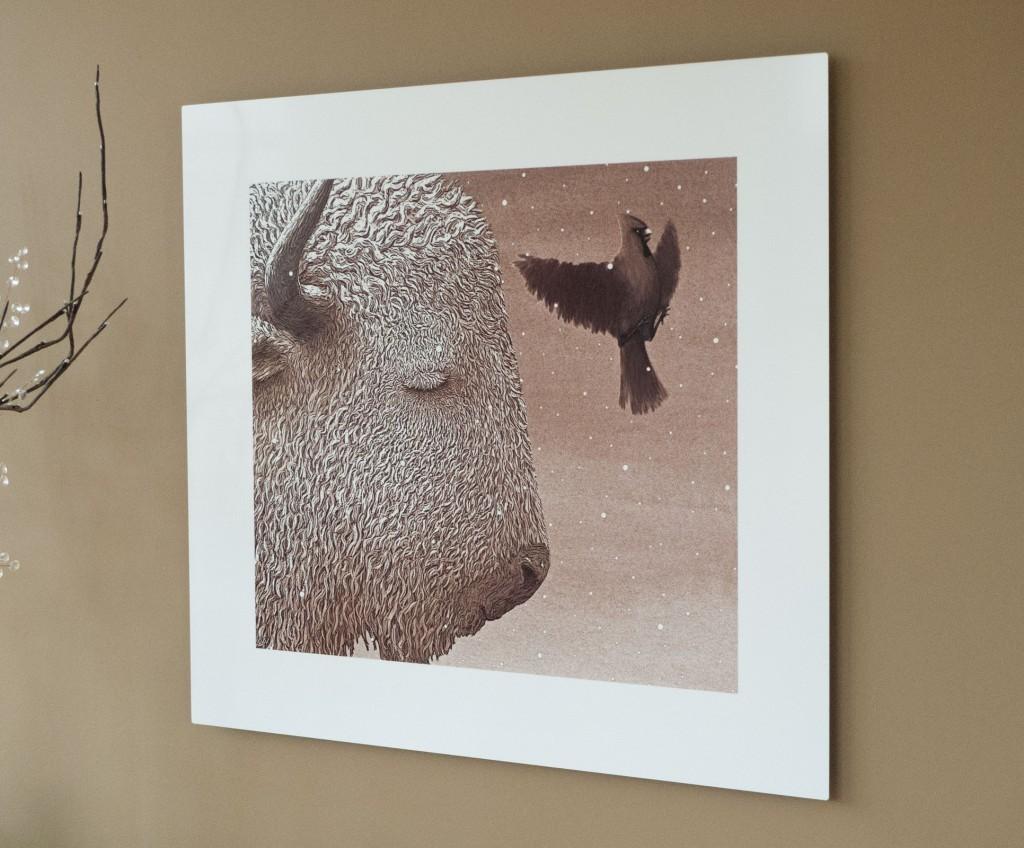 Buffalo Gal; 1999; sepia; print on aluminum hanging