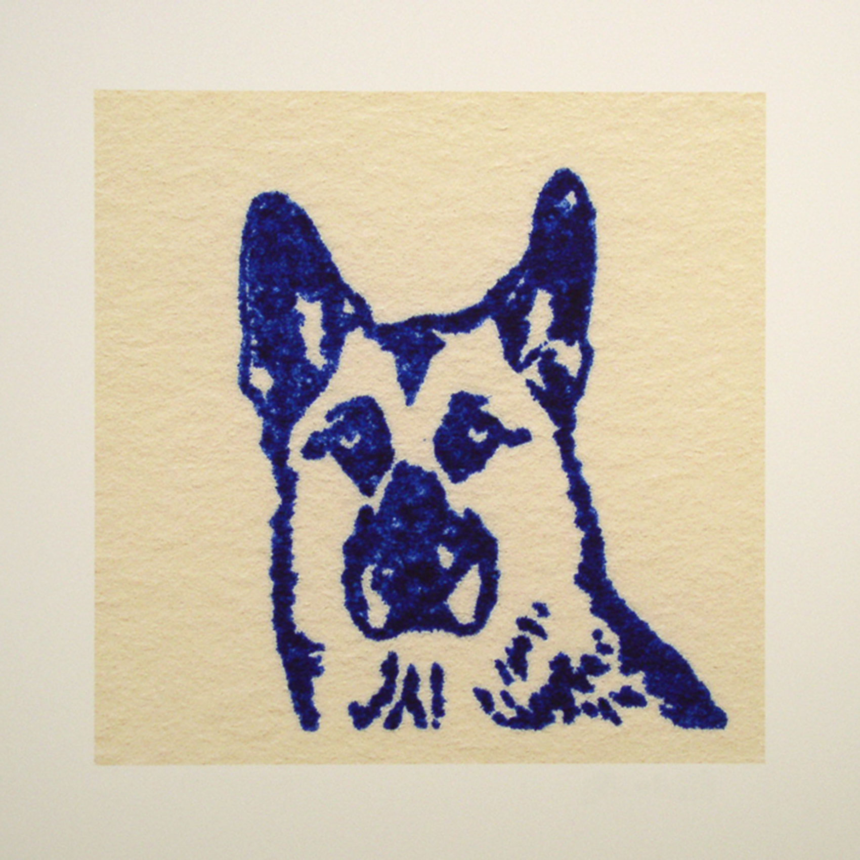 """Cody; blue; 2007; image size 10"""" x 10"""""""