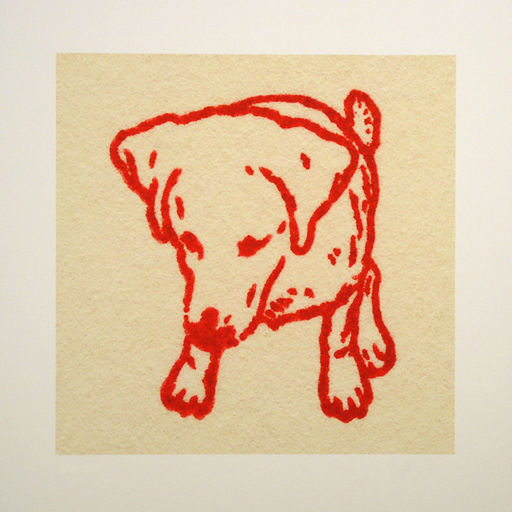 "Eloise; red; 2007; image size 10"" x 10"""