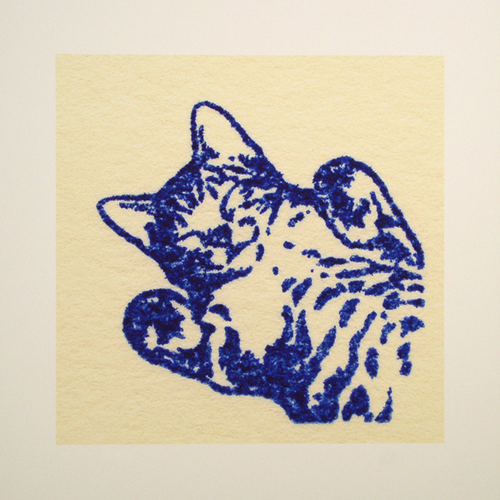 """Jebediah; blue; 2007; image size 10"""" x 10"""""""