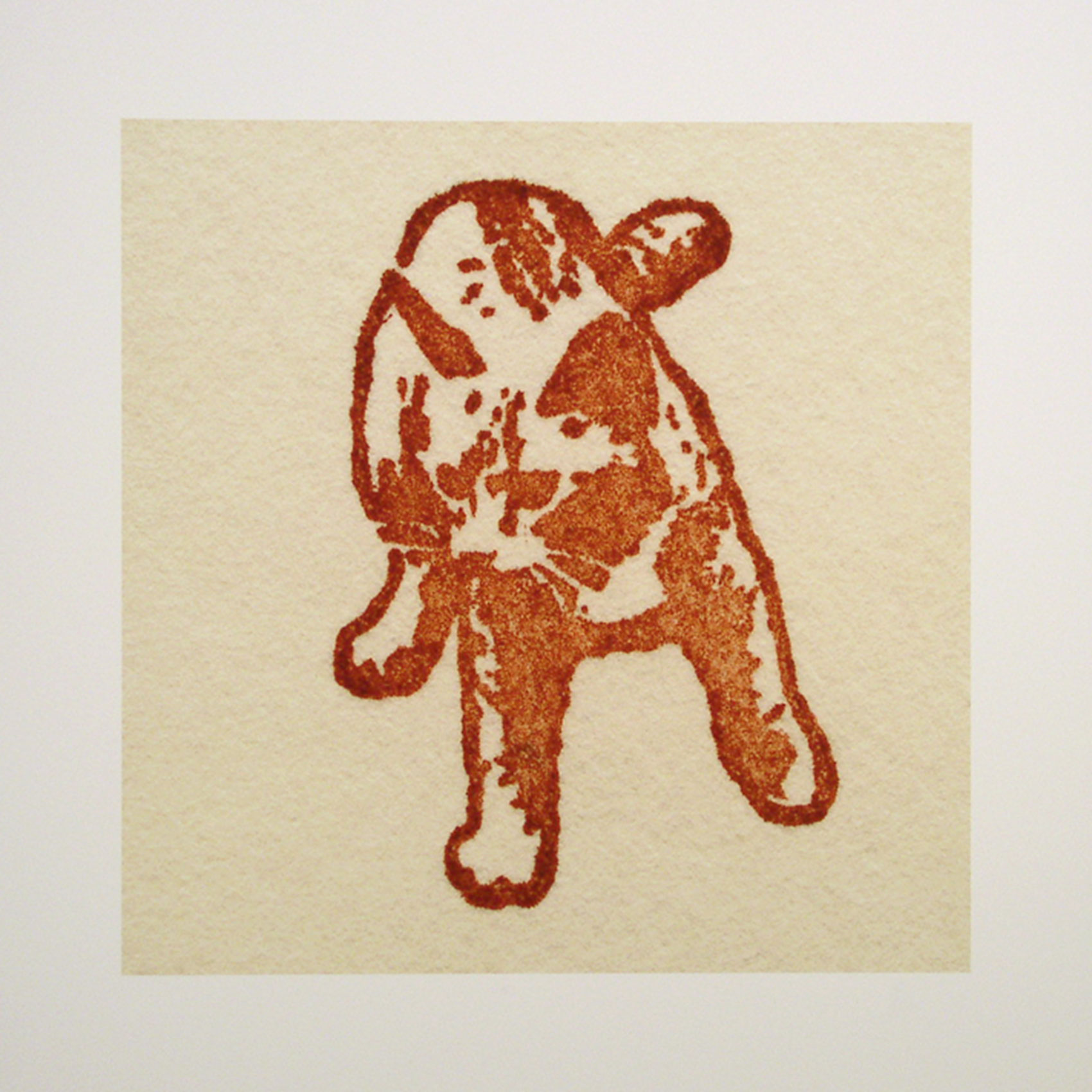 "Maggie; brown; 2007; image size 10"" x 10"""