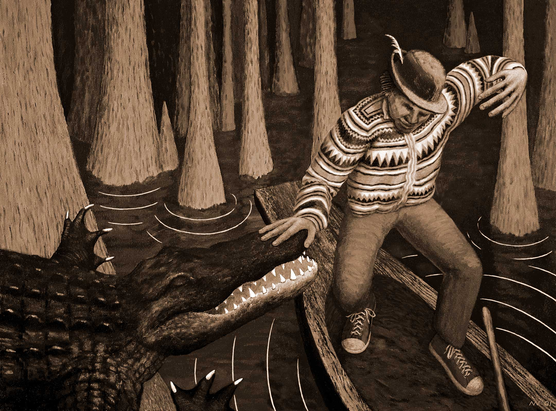 Monster Hypnosis; 2001; sepia